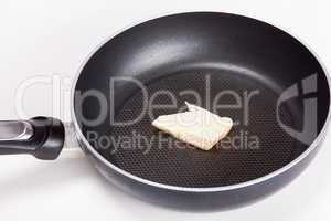 butter in the pan to fry
