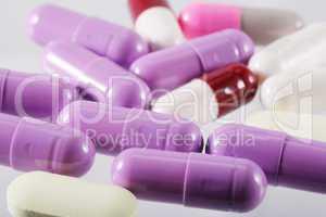 macro shot of assorted pills