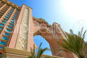 Building of Atlantis the Palm hotel