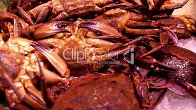Plenty of big crabs on display
