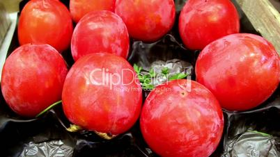 Healthy and nutritious ripe eco tomatoes