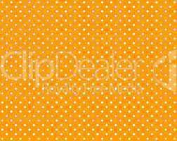 Oranger Hintergrund mit weißen Punkten