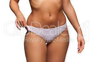 torso of a beautiful topless woman