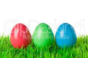 red green blue easter eggs
