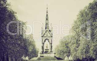 vintage sepia albert memorial, london