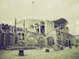 vintage sepia coventry cathedral