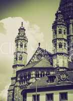 vintage sepia st stephan church mainz