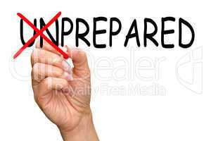 prepared - business concept