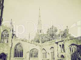 vintage sepia coventry cathedral ruins
