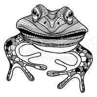 frog animal head symbol for mascot or emblem design vector illustration for t-shirt
