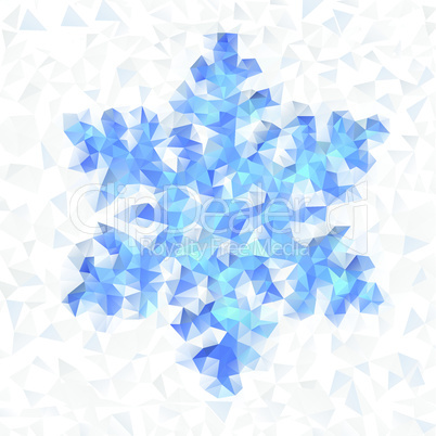Seamless pattern of geometric snowflake.
