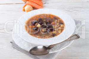 sharp bean soup