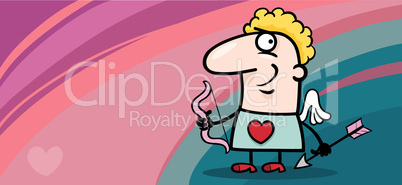 valentine card cartoon with cupid