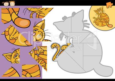 cartoon cat jigsaw puzzle game