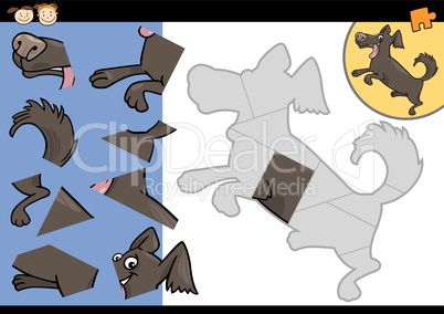 cartoon dog jigsaw puzzle game