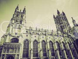 vintage sepia canterbury cathedral