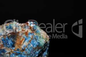 mineralien azurit und malachit gross detail