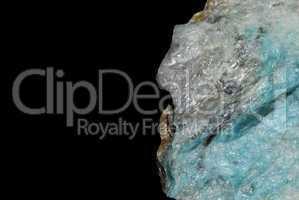 mineralien mit blauen lazulith detail
