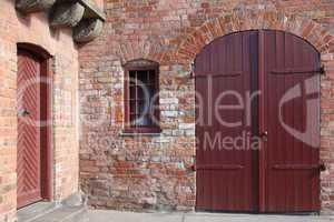 Tor in einem alten Haus in Lübeck