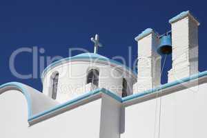 Details einer typisch griechischen Kirche