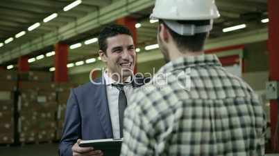 3of19 People working in warehouse, workers in industry