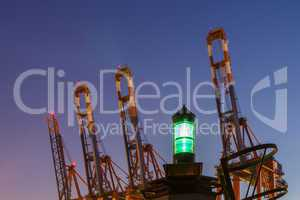 container cranes with beacon