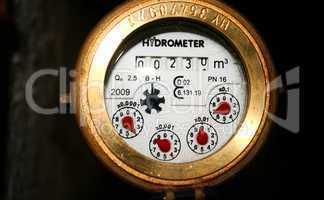 Wasseruhr, Hydrometer, Verbrauchsanzeige