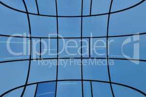 distorted glass facade