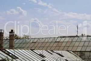 greenhouse glass roof