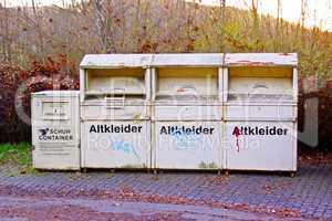 Altkleider Sammelbehälter