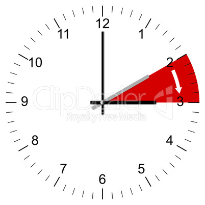 clock illustration end of winter time