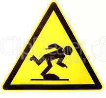 Warnschild Stolpersteine