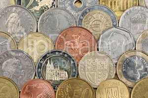 Münzen von der ganzen Welt
