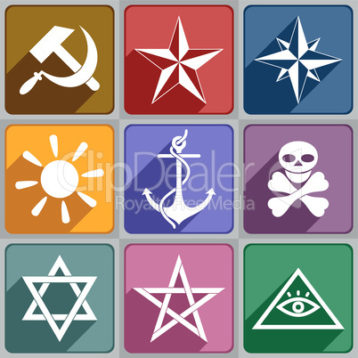 icons of the different symbols