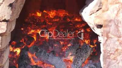 adobe brick oven inside dolly