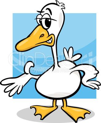 duck or goose cartoon farm bird