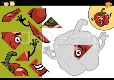 cartoon pepper jigsaw puzzle game