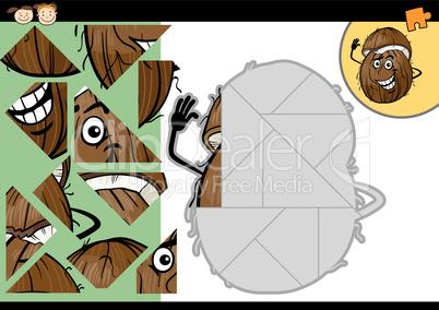 cartoon coconut jigsaw puzzle game