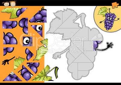 cartoon grapes jigsaw puzzle game