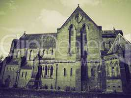 vintage sepia barony parish glasgow