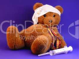 Teddy Gesundheit Krankheit Spritze Verband