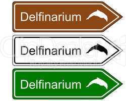 wegweiser delfinarium