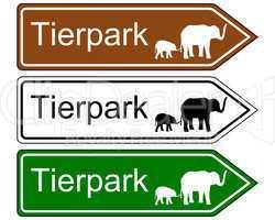 wegweiser tierpark