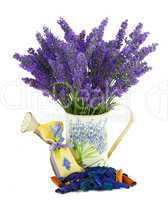 Watering can with lavender sachet