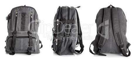 Backpack with clipping path