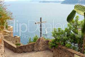 Wooden crucifix in the Aragonese Castle