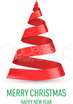 Ribbon Christmas tree.