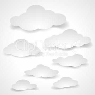 Paper clouds.