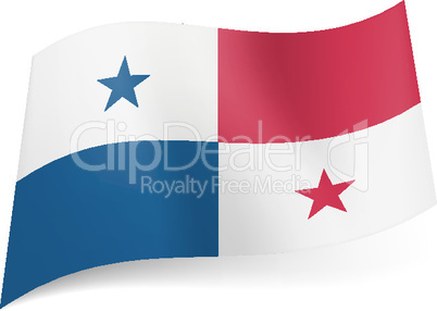 State flag of Panama.