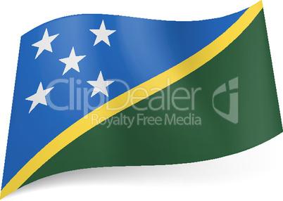 State flag of Solomon Islands.